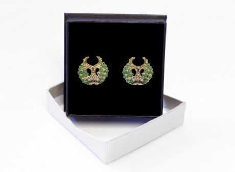 The Gordon Highlanders - set of silver nickle cuff links in presentation box.